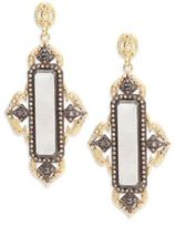 Armenta Old World Rainbow Moonstone, Champagne Diamond, 18K Yellow Gold & Sterling Silver Earrings
