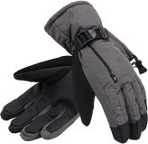 ANDORRA Men's Waterproof Thinsulate Touchscreen Winter Ski Gloves w/ Zippered Pocket and Lens-Wiper Thumbs,L