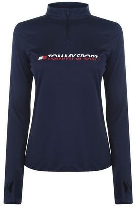 Tommy Sport Quarter Zip Base Layer Top