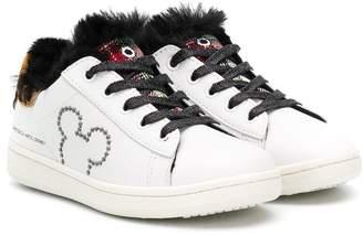 Moa Kids Gallery rhinestone-embellished sneakers