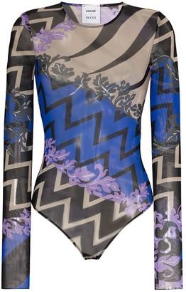 Emilio Pucci Graphic-Print Bodysuit