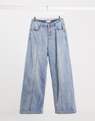 Fae high waisted flare jean in blue