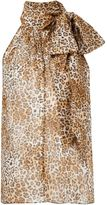 Saint Laurent leopard print blouse - women - Silk - 38