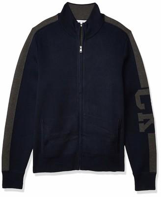 Calvin Klein Men's Supima Cotton Zip-Up Sweater