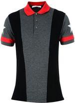 Givenchy Grey Star Print Polo Shirt