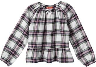 Joe Fresh Plaid Long Sleeve T-Shirt (Toddler & Little Girls)