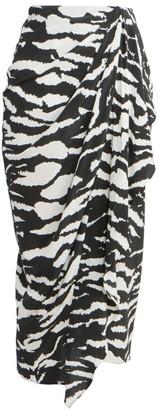 Isabel Marant Fabiana Draped Zebra Skirt