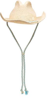 Maison Michel Austin Cord-Trimmed Straw Hat