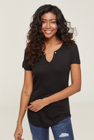Ardene Tee with Faux Pearls and Chain collar - Clothing |