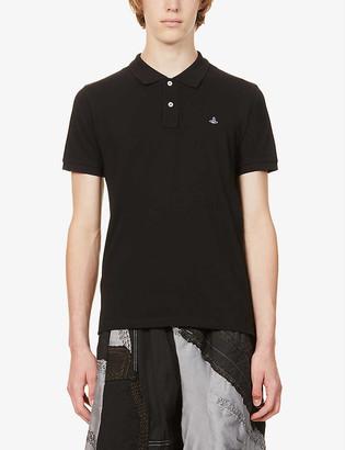 Vivienne Westwood Logo-embroidered cotton-piquA polo shirt