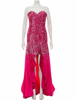 Terani Couture Strapless Long Dress w/ Tags Pink