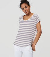 LOFT Striped Mixed Media Tee