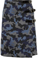 Christopher Kane Camouflage-print wool and silk-blend kilt