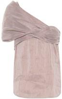 Chloé Striped linen-blend top