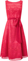 Jacques Vert Lace And Fit Flare Dress