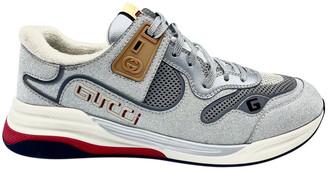 Gucci Ultrapace Silver Cloth Trainers