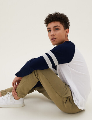 Marks and Spencer Pure Cotton Striped Top (6-16 Yrs)