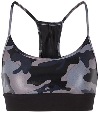 Koral Activewear Sweeper camouflage-print bra top
