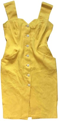 Christian Dior Yellow Cotton Dress for Women Vintage