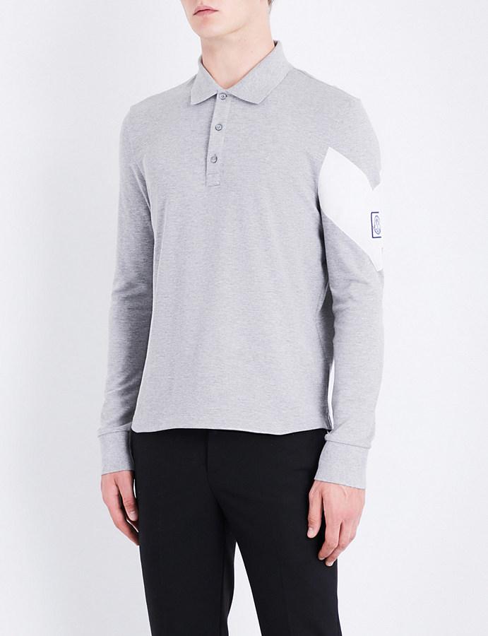 Moncler Gamme Bleu Logo-detail cotton-piqué polo shirt