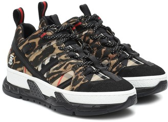 Burberry Union leopard-print neoprene sneakers
