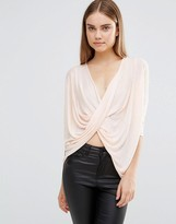 AX Paris Knitted Wrap Front Top