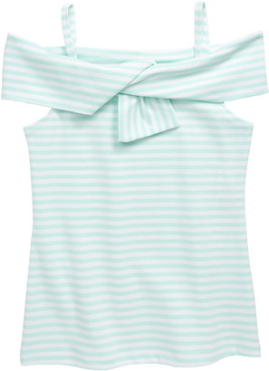 Habitual Stripe Twist Yoke Top