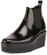 Pierre Hardy Jodhpur Polished Leather Platform Boot, Black