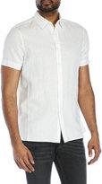 Perry Ellis Linen-Blend Shirt