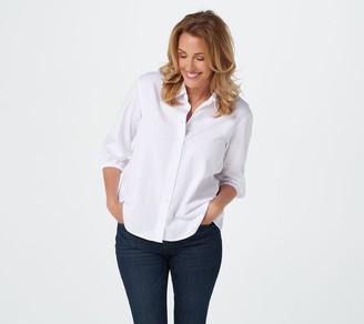 Joan Rivers Classics Collection Joan Rivers Lightweight Denim Shirt with Gathered Back
