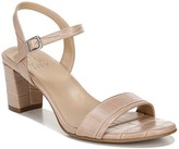 Naturalizer Bristal Block Heel Croc Embossed Sandal - Wide Width Available