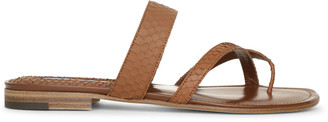 Manolo Blahnik Susa flat brown leather sandals