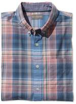 L.L. Bean Signature Washed Poplin Shirt, Short-Sleeve Plaid
