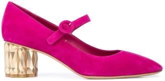Salvatore Ferragamo Refracted heel Mary Jane pumps