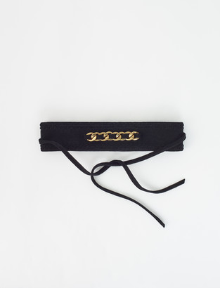 Maje Suede belt with chain