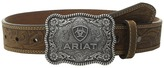 Ariat Rectangle Rope Edge Shield Buckle Embossed Tab Belt (Little Kids/Big Kids)
