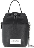 Thumbnail for your product : Maison Margiela Numbers patch bucket bag
