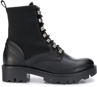 Tosca stud embellished biker boots