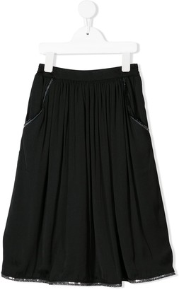 Caffe' D'orzo Ursula sequin-embroidered skirt