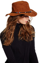 San Diego Hat Company Faux Suede Beaded Fedora