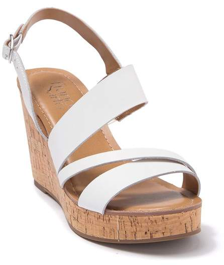 Franco Sarto Cooper Leather Wedge Sandal