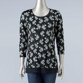 Women's Simply Vera Vera Wang Crinkle Printed Tee