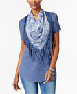 style co tshirt with fringe scarf only at macys