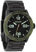 Nixon 'The Private' Camo Bezel Bracelet Watch, 42mm