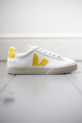 Veja Campo White Yellow Leather Sneakers - 37