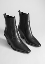 Thumbnail for your product : And other stories Square Toe Leather Cowboy Boots
