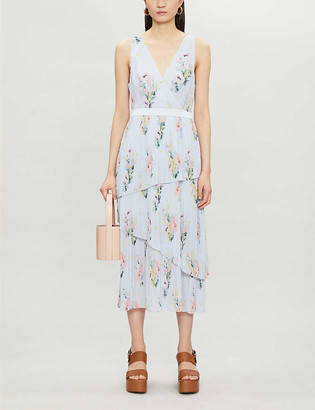 Ted Baker Floral-print crepe midi dress