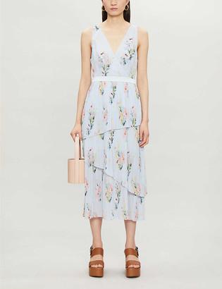 Ted Baker Floral-print crepe midi dress