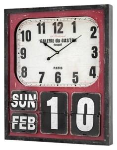 Crystal Art Gallery American Art Decor Oversized Wall Clock and Calendar