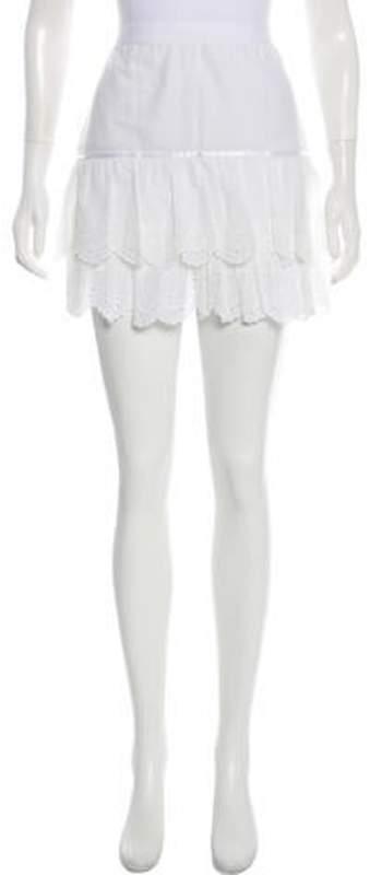 Dolce & Gabbana Eyelet Mini Skirt White Eyelet Mini Skirt